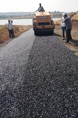 plastic waste road