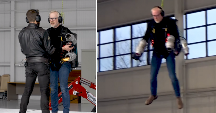 real iron man suit that can fly created by Mythbuster