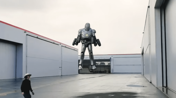 Real life iron man suit that can fly in the air.