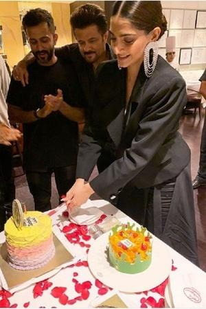 Sonam Kapoor celebrates her 34th birthday with friends family and hubby Anand Ahuja