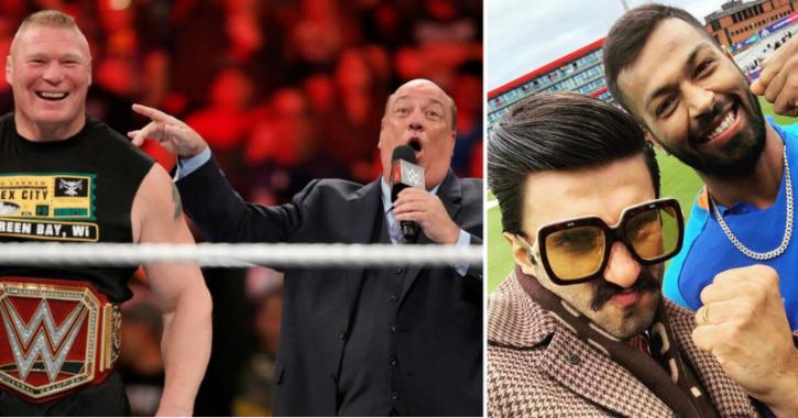 WWE wrestler Brock Lesnar's advocate Paul Heyman threatens and issues warning for Ranveer Singh.