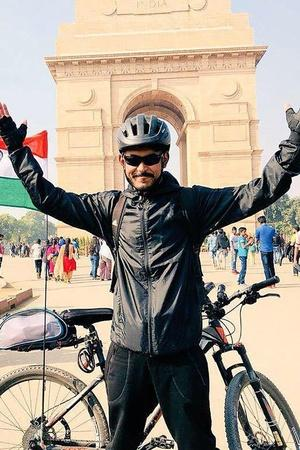 manipur cyclist philem rohan singh raise fund for pulwama martyr