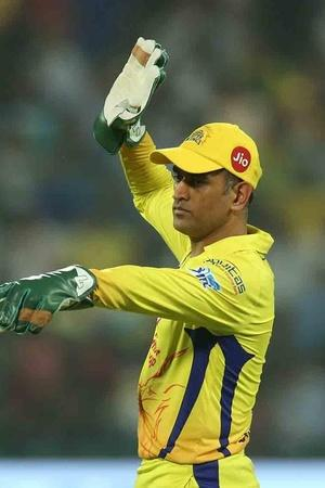 MS Dhoni draws first blood