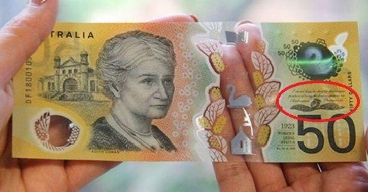 $50 printed with an error:Oops! Australia's $50 Banknote Gets Printed 46 Million Times With A ...