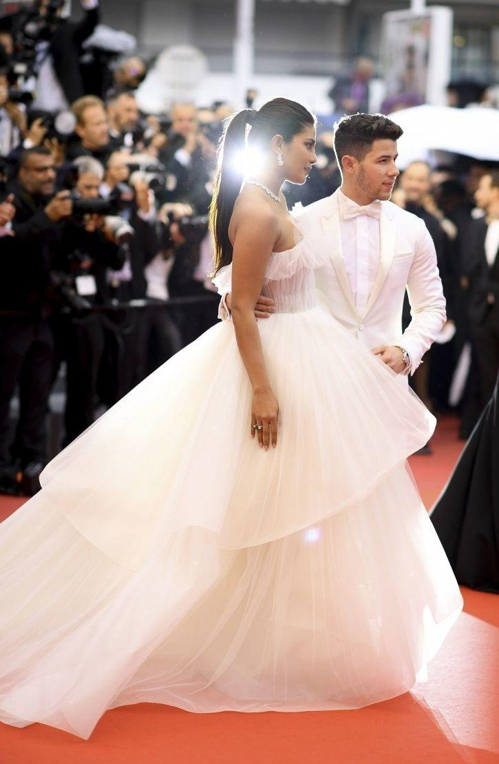 A pic of Priyanka Chopra and Nick Jonas from the Cannes on their one year anniversary.