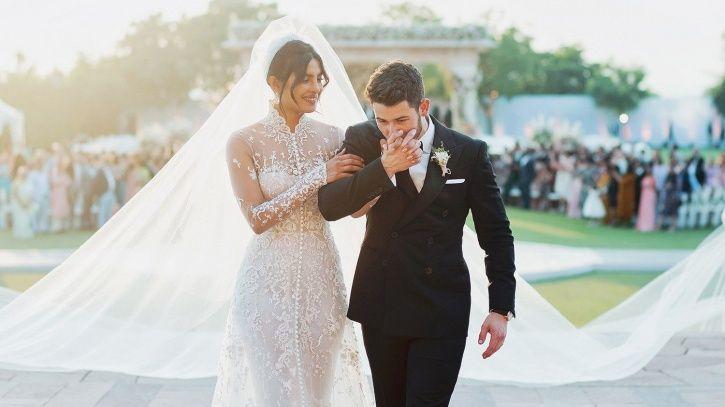 A pic of Priyanka Chopra and Nick Jonas from their wedding on their one-year anniversary.