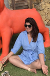 A picture of Twinkle Khanna meditating