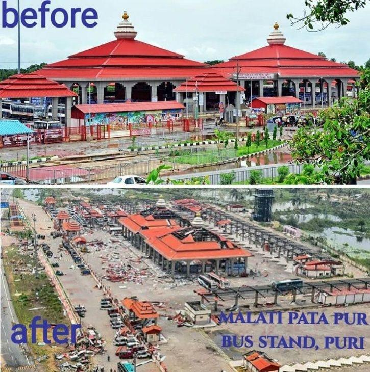 Puri Canal Road Bhubaneswar: Cyclone Fani:Heartbreaking Pictures Show Odisha Before And