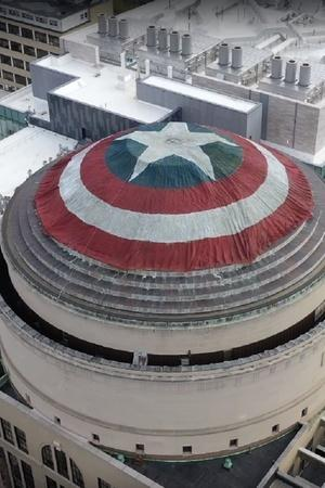 MIT hackers turn their colleges great dome into Captain America shield and Chris Evans is impressed