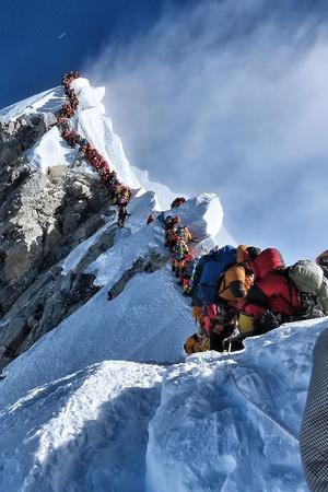 mount everest traffic jam