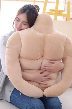 muscular body pillow