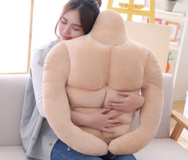 muscular body pillow