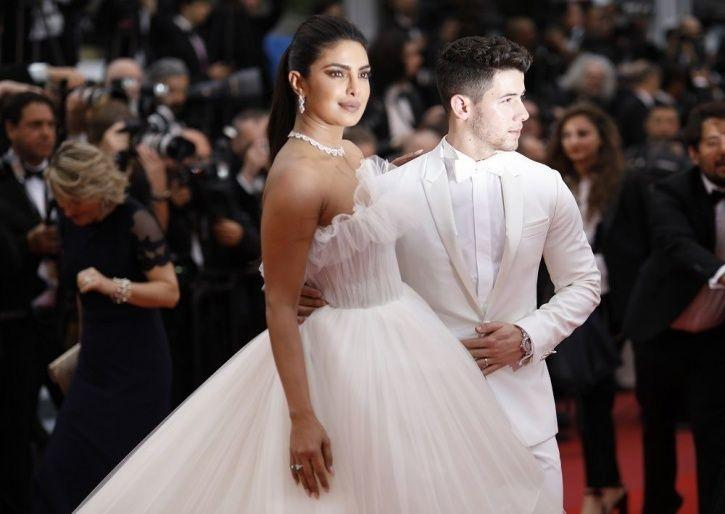 Priyanka Chopra and Nick Jonas at Cannes red carpet 2019.