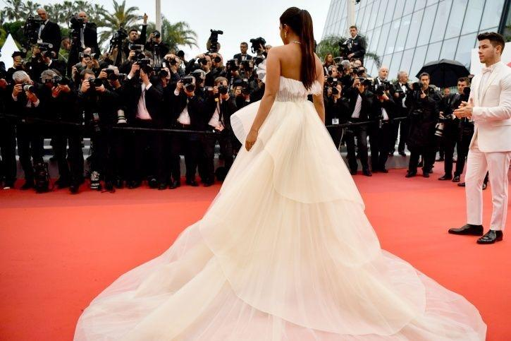 Priyanka Chopra at Cannes Film Festival red carpet 2019.