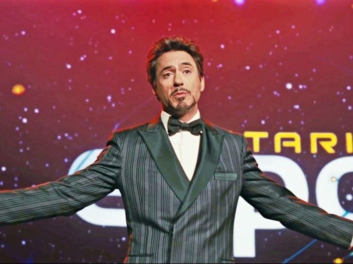 Tony Stark shows off his signature style.