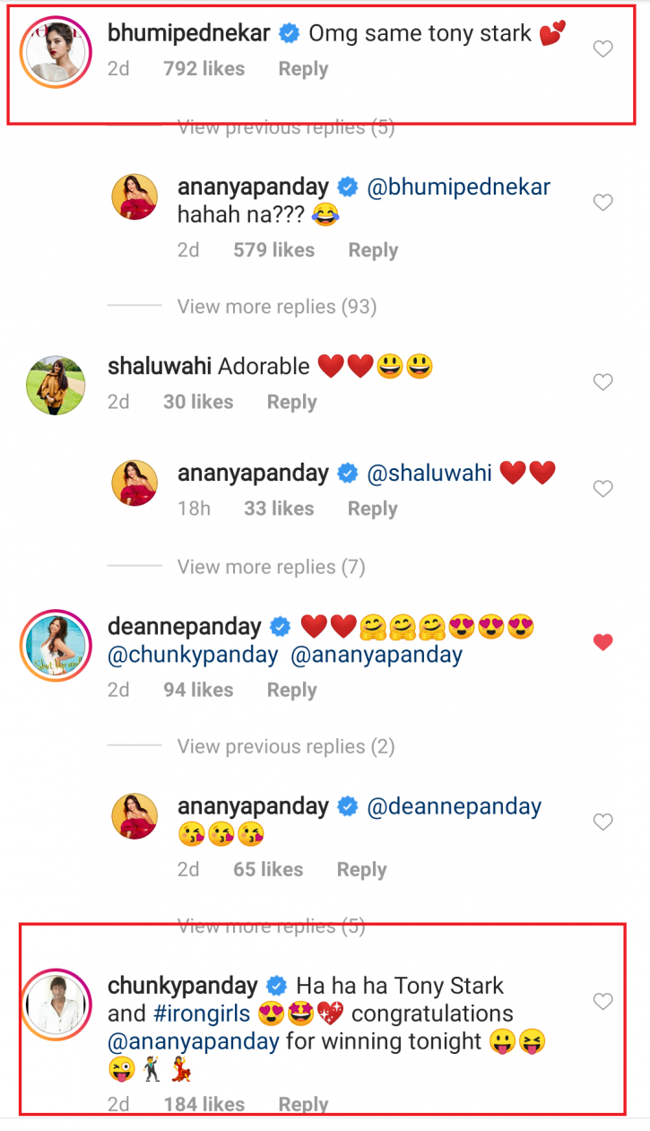 Ananya Panday Thinks Dad Chunky Looks Like Tony Stark, Fans Are Glad He Died Before Seeing This