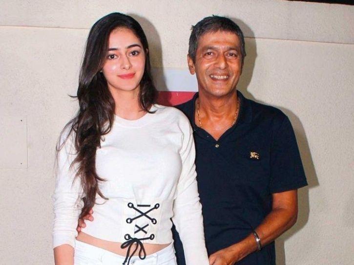 ananya Panday with father chunkey panday.