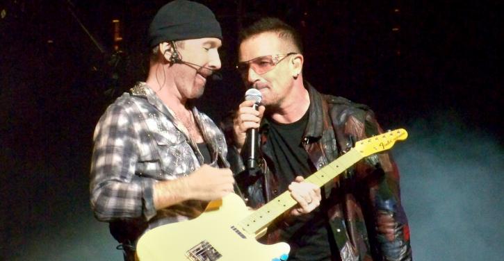 AR Rahman collaborates with U2 members Bono and The Edge.