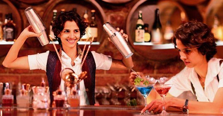 female bar tender
