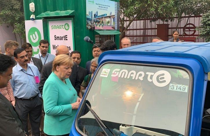German Chancellor Angela Merkel, Indo-German Partnership, India Germany Electric Vehicle Partnership