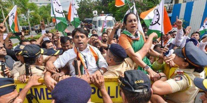 KBC controversy: Nationalist Congress Party protests outside Sony TV