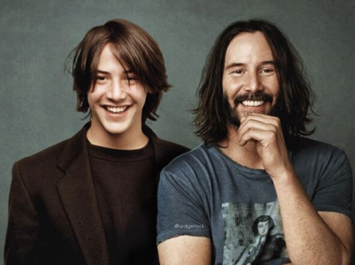 Keanu Reeves: Celebrities With Their Younger Selves