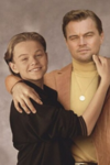 Leondardo DiCaprio hanging out with his younger self