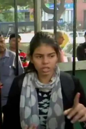 Lone Teenage Girl Protests Outside Parliament Asks Why I Cant Feel Safe In My Own Bharat