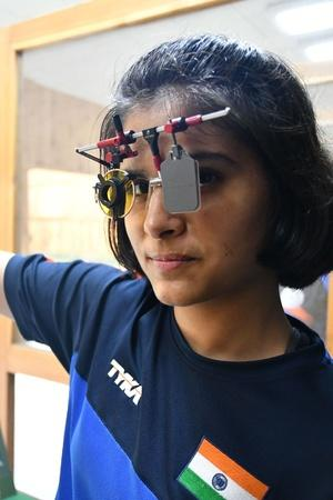 Manu Bhaker Celebrates By Shooting Gold At Asian Championship