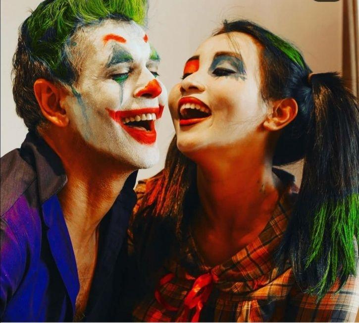 Milind Soman And Wife Ankita Konwar Turn Joker & Harley Quinn For Halloween