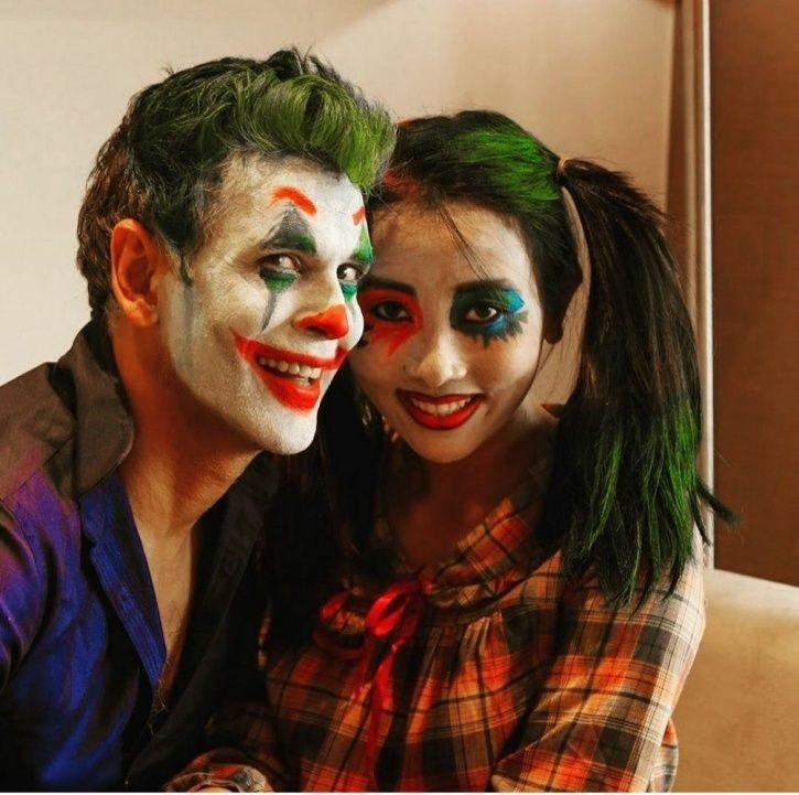 Milind Soman Got Decked Out As Joaquin Phoenix's Joker For Wife Ankit Konwar For Halloween