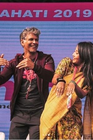 Milind Soman Learns Bihu Dance For Wife Ankita Konwar Fans Are In Love With The Best Couple