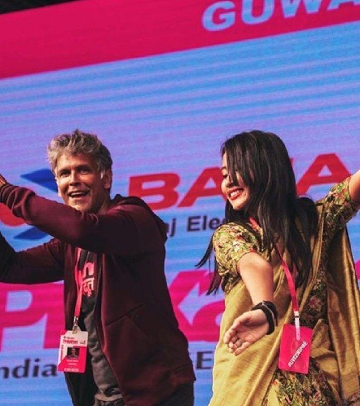 Milind Soman Learns Bihu Dance For Wifey Ankita Konwar & Fans Are In Love With The