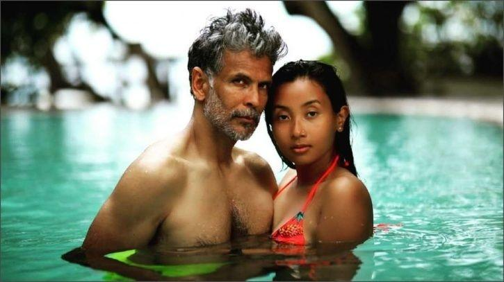 Milind Soman with wife Ankita Konwar.