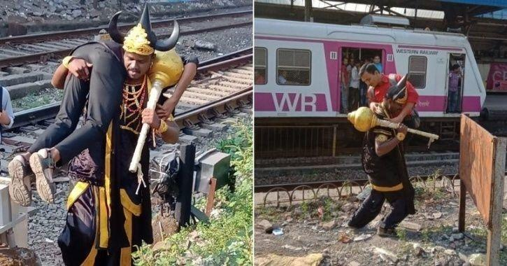 Railway track, Railways, Western Railways, Yamraj, commuters, Mumbai, man dressed as yamraj, Andheri