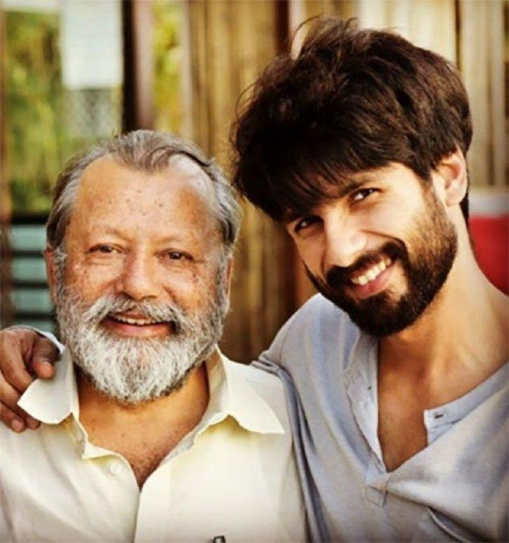 Shahid Kapoor with father Pankaj Kapur.