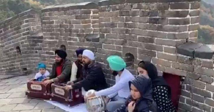 Sikh Shabad, Shabad Kirtan, Great Wall Of China, Sikh men, Gurpurab, China, sikh men singing shabad