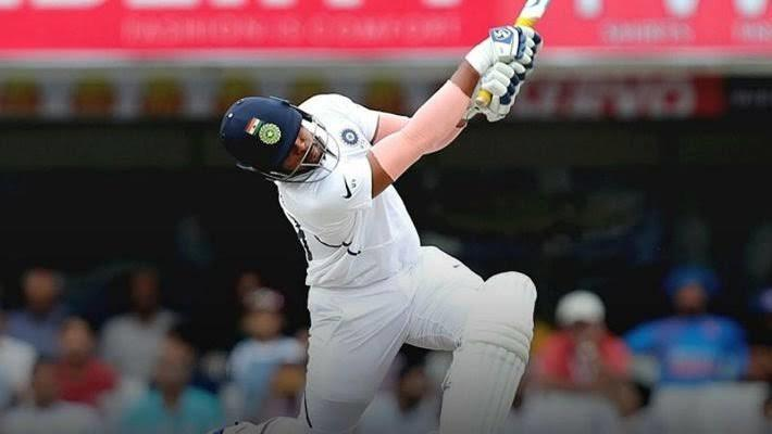 Umesh Yadav hit the ball hard