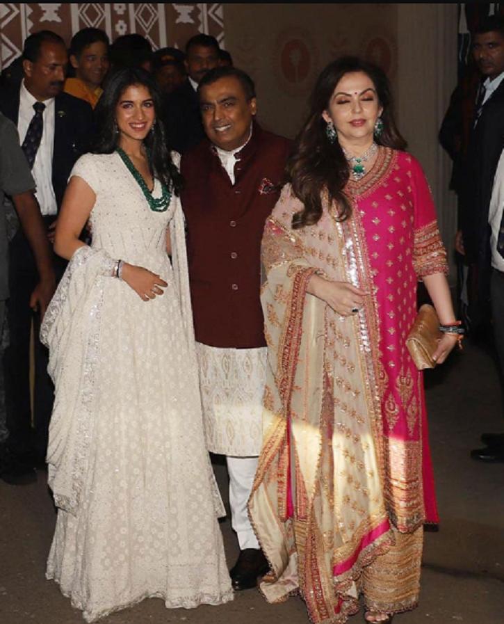 Ambanis at Bachchans Diwali party.