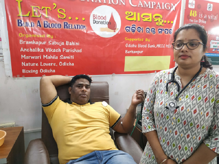 blood donor, Donate Blood, Man From Odisha Traveled 500 Km,Rare Blood Group