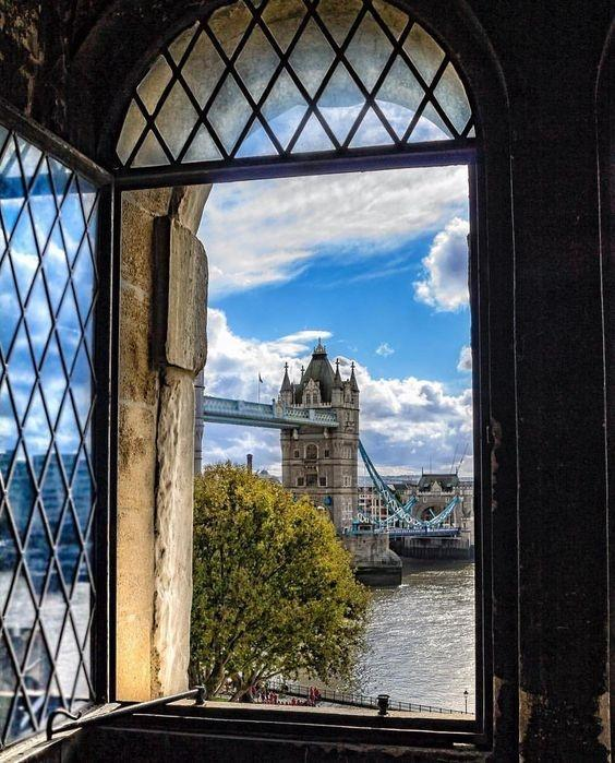 cities captured though open windows and doors