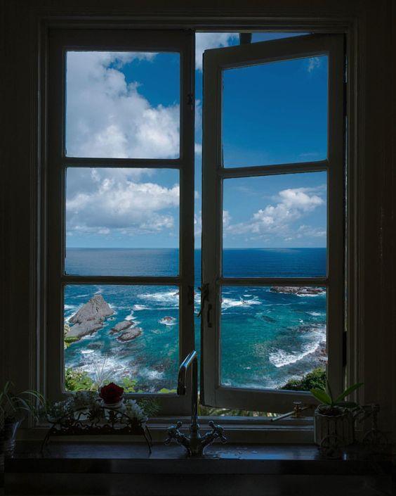 cities captured through open doors and windows
