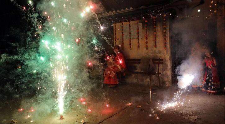 green firecrackers Diwali