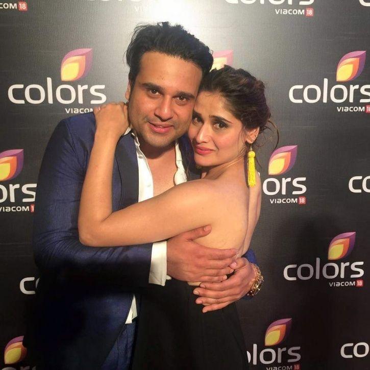 Krushna Abhishek with Arti Singh.