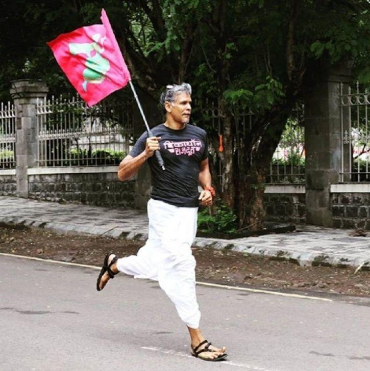 Milind Soman Shares He Ran 25 Kms Wearing Dhoti & Chappal, Says 'Don't Let Anything Stop You'