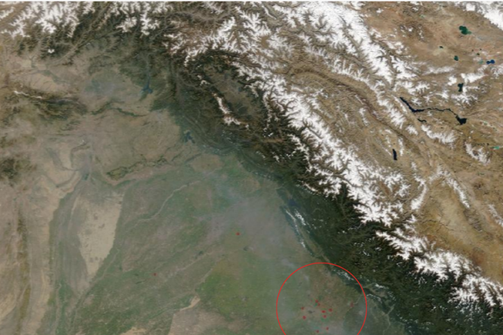 NASA Images Reveal Stubble Burning Behind Increase In Air Pollution, Thick Smog In Delhi