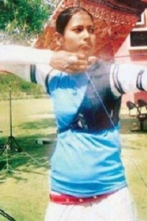 Nisha Dutta archery archer medal bow