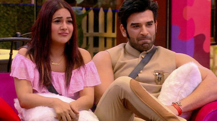 Paras Chhabra, Shehnaz Gill and Mahira Sharma in Bigg Boss 13.