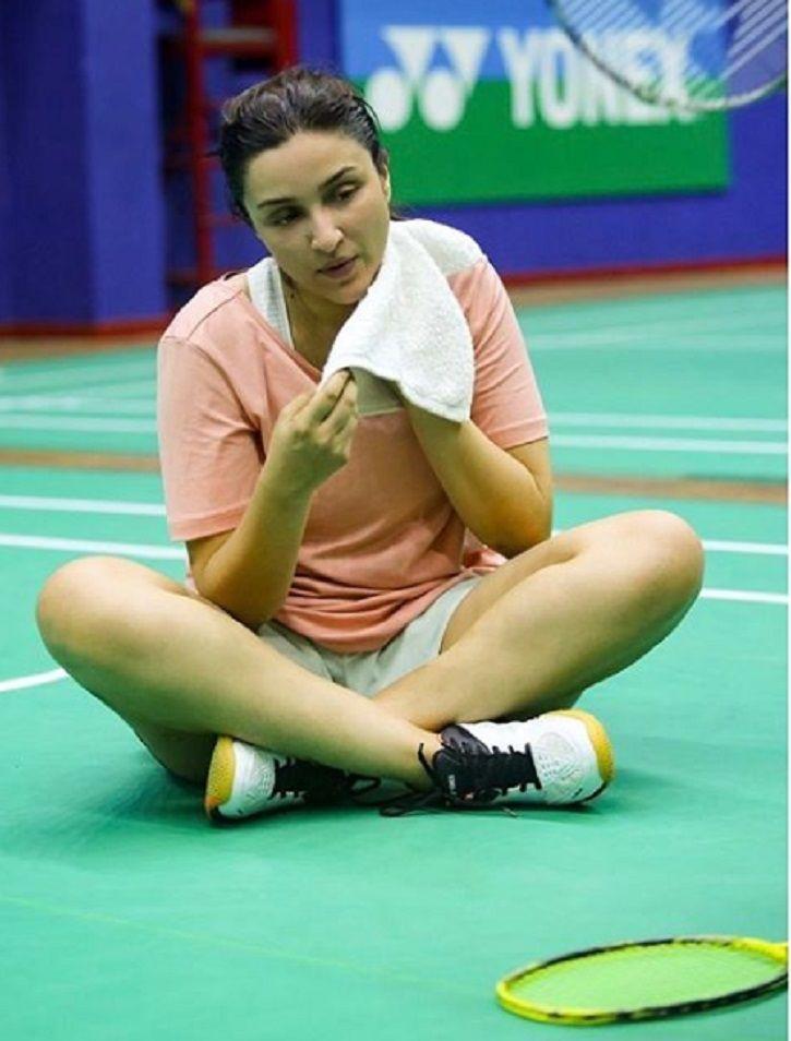 Parineeti Chopra preps up for Saina Nehwal biopic.
