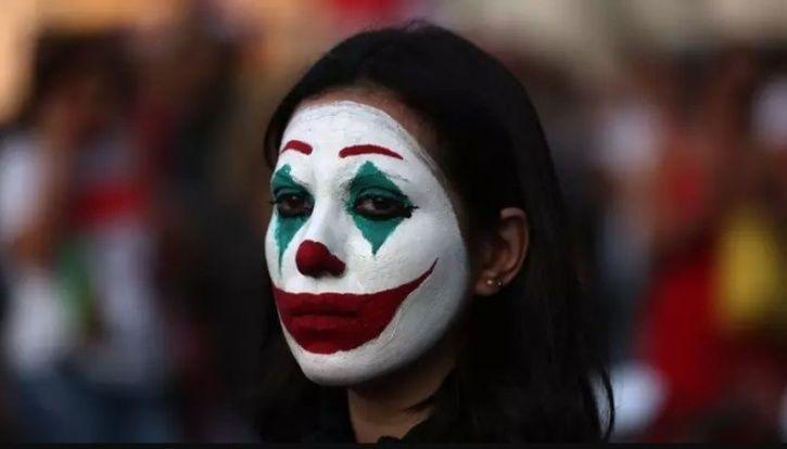 People In Lebanon Are Painting Their Faces Like Joaquin Phoenix's Joker To Protest Against Govt